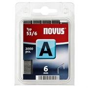 Тонкие скобы для степлера Novus тип 53 А 53/6 2000 шт