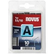 Тонкие cупертвердые скобы для степлера Novus тип 53 А 53/10S 1000 шт