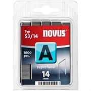 Тонкие cупертвердые скобы для степлера Novus тип 53 А 53/14S 1000 шт