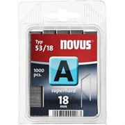 Тонкие cупертвердые скобы для степлера Novus тип 53 А 53/18S 1000 шт