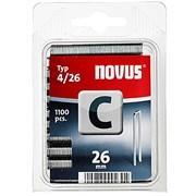 Узкие скобы для степлера Novus тип 4 C 4/26 1100 шт
