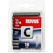Узкие скобы для степлера Novus тип 4 C 4/18 V2A 1100 шт