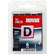Плоские скобы для степлера Novus тип 53F D 53F/6 1200 шт