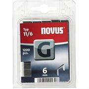 Плоские скобы для степлера Novus тип 11 G 11/6 1200 шт