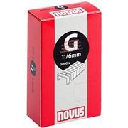 Плоские скобы для степлера Novus тип 11 G 11/6 5000 шт