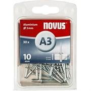 Алюминиевые потайные заклепки Novus тип А3х10 30 шт