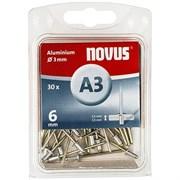 Алюминиевые потайные заклепки Novus тип А3х6 30 шт
