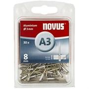 Алюминиевые потайные заклепки Novus тип А3х8 30 шт