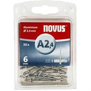 Алюминиевые вытяжные заклепки Novus тип А2,4х6 30 шт
