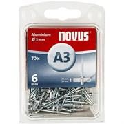 Алюминиевые потайные заклепки Novus тип А3х6 70 шт