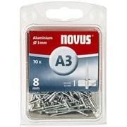 Алюминиевые потайные заклепки Novus тип А3х8 70 шт