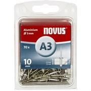 Алюминиевые потайные заклепки Novus тип А3х10 70 шт