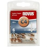 Медные потайные заклепки Novus тип C4х6 20 шт