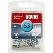 Стальные потайные заклепки Novus тип S3х10 20 шт