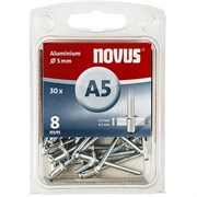Алюминиевые потайные заклепки Novus тип А5х8 30 шт