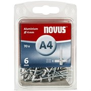 Алюминиевые потайные заклепки Novus тип А4х6 70 шт