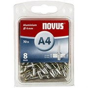 Алюминиевые потайные заклепки Novus тип А4х8 70 шт
