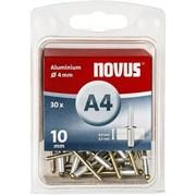 Алюминиевые потайные заклепки Novus тип А4х10 70 шт
