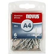 Алюминиевые потайные заклепки Novus тип А4х6 30 шт