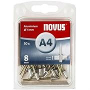 Алюминиевые потайные заклепки Novus тип А4х8 30 шт