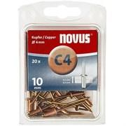 Медные потайные заклепки Novus тип C4х10 20 шт