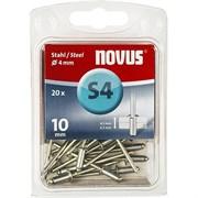 Стальные потайные заклепки Novus тип S4х10 20 шт