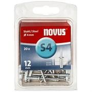 Стальные потайные заклепки Novus тип S4х12 20 шт