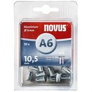 Алюминиевые потайные заклепки Novus тип A6/M4х10,5 10 шт