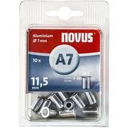 Алюминиевые потайные заклепки Novus тип A7/M5х11,5 10 шт