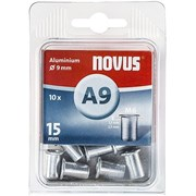 Алюминиевые потайные заклепки Novus тип A9/M6х15 10 шт