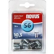 Стальные потайные заклепки Novus тип S6/M4х10 10 шт