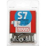 Стальные потайные заклепки Novus тип S7/M5х11,5 10 шт