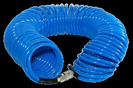 Полиуретановый спиральный шланг Fubag с фитингами рапид 6x10мм, 15м