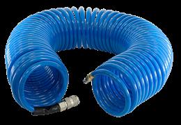 Полиуретановый спиральный шланг Fubag с фитингами рапид 8x12мм, 20м