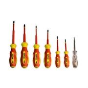 Набор диэлектрических отверток ШТОК 6шт+тестер 09330