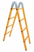 Диэлектрическая шарнирная лестница ЗЭП ЛСПТС-2х2,5-55