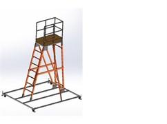 Передвижная лестница с платформой ЗЭП 7 ступеней СВВ-3,0-73