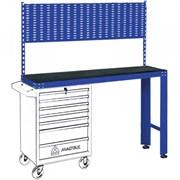 Синий инструментальный верстак МАСТАК под тележку, задняя панель 542-11500B