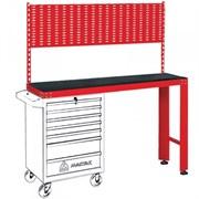 Красный инструментальный верстак МАСТАК под тележку, задняя панель 542-11500R