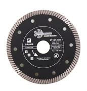 Алмазный отрезной диск Турбо Ультратонкий 125x22,23 мм Trio-Diamond GTT702