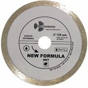 Сплошной алмазный отрезной диск 150x22,23 мм Trio-Diamond W403