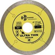 Сплошной алмазный отрезной диск Ультратонкий 115x22,23 мм Trio-Diamond UTW501