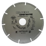 Алмазный отрезной диск Hilberg Super Master 125x22,23 мм Trio-Diamond 510125