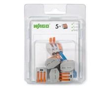 Мини-упаковка рычажковых клемм Wago 222-413/996-005