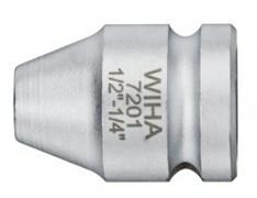 """Адаптер Wiha 7201 с пружинным стопорным кольцом 1/4""""-1/4"""" x 25 мм 01924"""