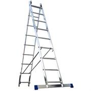 Двухсекционная алюминиевая лестница Алюмет 2х16 6216