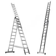 Алюминиевая трехсекционная лестница Алюмет 3х9 5309