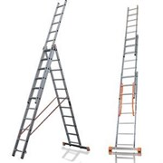 Алюминиевая трехсекционная лестница Алюмет 3х8 9308