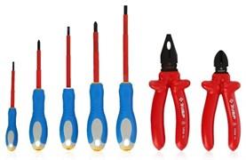 Диэлектрический набор губцевого инструмента Зубр Профессионал 7 ед. 2214-H7_z01