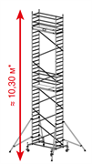 Алюминиевая вышка-тура Krause ProTec 10,3м 910189